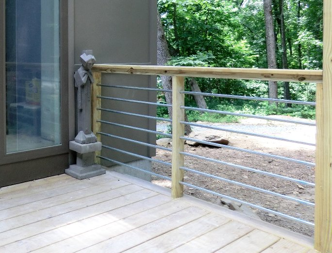 Front porch railing ideas - Conduit Railings